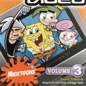 The cover art of the game GBA Video: Nicktoons Volume 3.
