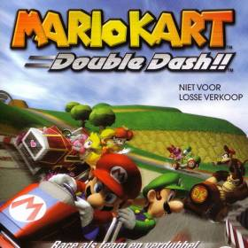 The cover art of the game Mario Kart: Double Dash!!.