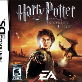 The cover art of the game Harry Potter and the Goblet of Fire.