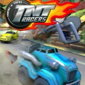 The cover art of the game TNT Racers.