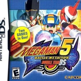 The cover art of the game Mega Man Battle Network 5: Double Team DS.