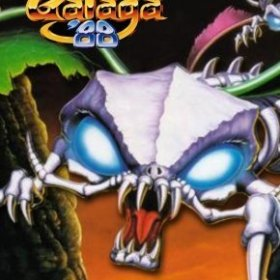The cover art of the game Galaga '88.