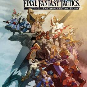 The cover art of the game Final Fantasy Tactics: The War of the Lions.