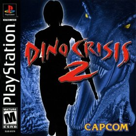 The cover art of the game Dino Crisis 2.
