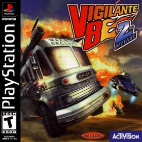 The cover art of the game Vigilante 8: 2nd Offense.