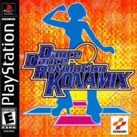 The cover art of the game Dance Dance Revolution Konamix.