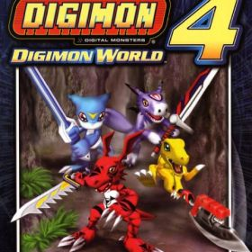 The cover art of the game Digimon World 4.