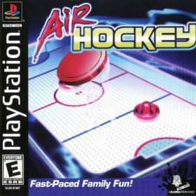 The cover art of the game Air Hockey.
