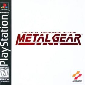The cover art of the game Metal Gear Solid.
