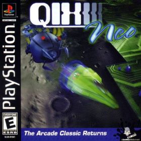 The cover art of the game Qix Neo.