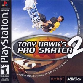 The cover art of the game Tony Hawk's Pro Skater 2.