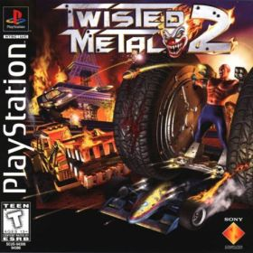 The cover art of the game Twisted Metal 2.