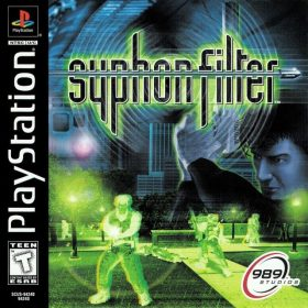 The cover art of the game Syphon Filter.