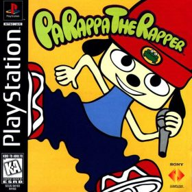 The cover art of the game PaRappa the Rapper.