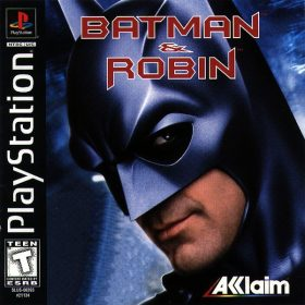 The cover art of the game Batman & Robin.