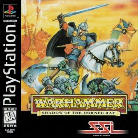 The cover art of the game Warhammer Shadow of the Horned Rat.