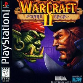 The cover art of the game Warcraft II: The Dark Saga.
