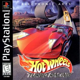 The cover art of the game Hot Wheels: Turbo Racing.