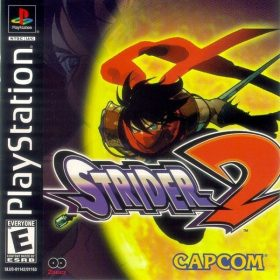 The cover art of the game Strider 2.