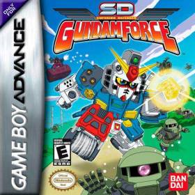 The cover art of the game SD Gundam Force.