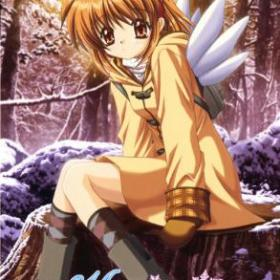 The cover art of the game Kanon.