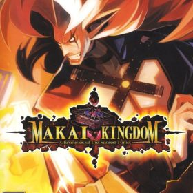 The cover art of the game Makai Kingdom: Chronicles of the Sacred Tome.