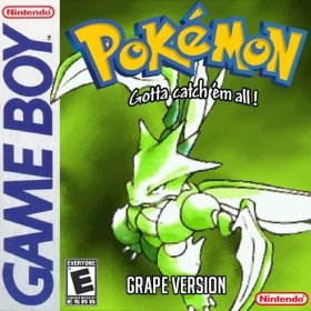 The cover art of the game Pokemon Grape (Hack).