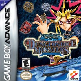 The cover art of the game Yu-Gi-Oh! Dungeon Dice Monsters.