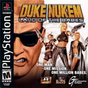 The cover art of the game Duke Nukem: Land of Babes.