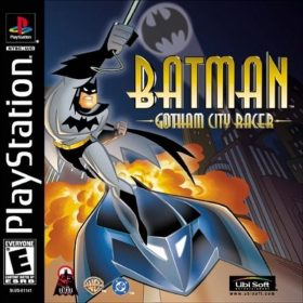 The cover art of the game Batman: Gotham City Racer.