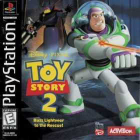 The cover art of the game Toy Story 2: Buzz Lightyear to the Rescue.