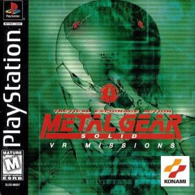 The cover art of the game Metal Gear Solid: VR Mission.