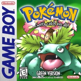 The cover art of the game Pokémon Green.