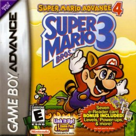 The cover art of the game Super Mario Advance 4: Super Mario Bros. 3 [SNES Palette + E-Reader levels].