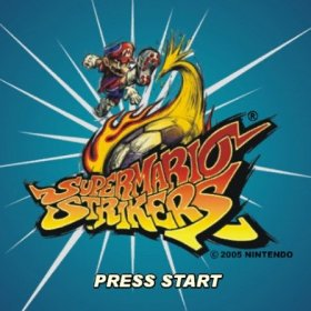 The cover art of the game Super Mario Strikers (Prototype).