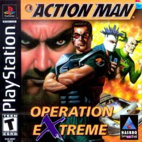 The cover art of the game Action Man: Operation Extreme.