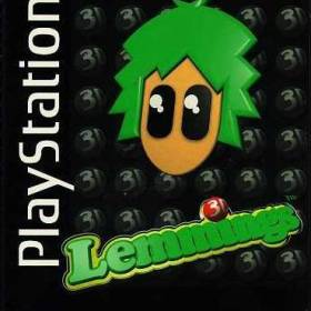 The cover art of the game 3D Lemmings.