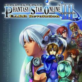 The cover art of the game Phantasy Star Online Episode III: C.A.R.D. Revolution.