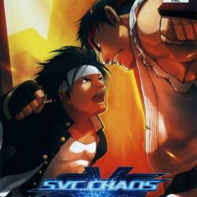 The cover art of the game SVC Chaos: SNK vs. Capcom.