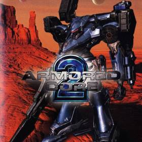 The cover art of the game Armored Core 2.