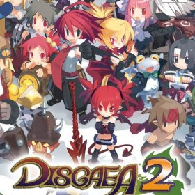 The cover art of the game Disgaea 2: Cursed Memories.
