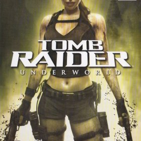 The cover art of the game Tomb Raider: Underworld.