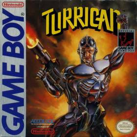 The cover art of the game Turrican.