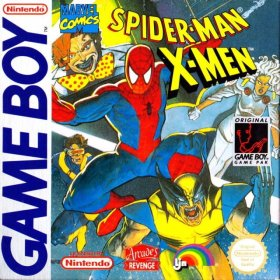The cover art of the game Spider-Man and the X-Men in Arcade's Revenge .