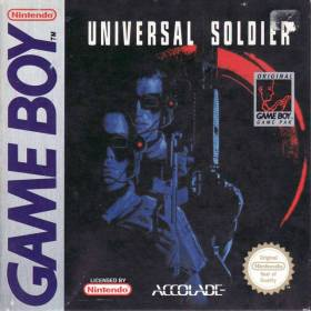 The cover art of the game Universal Soldier .