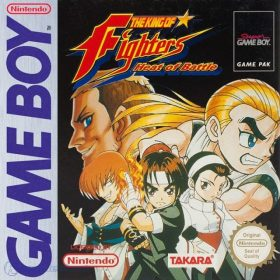 The cover art of the game The King of Fighters: Heat of Battle.