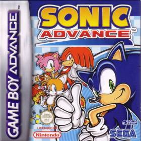 The cover art of the game Sonic Advance.