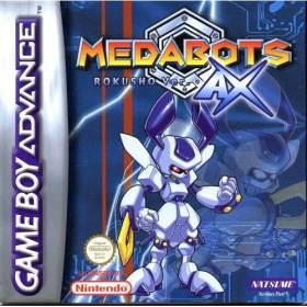 The cover art of the game Medabots AX - Rokusho Version.