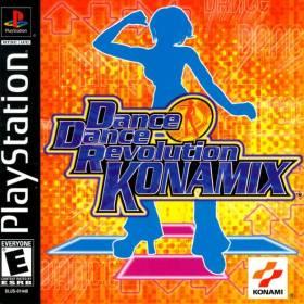 The cover art of the game Dance Dance Revolution: Konamix.