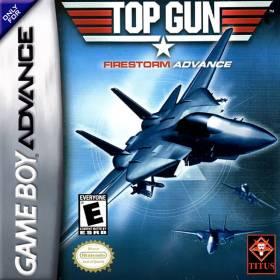 The cover art of the game Top Gun - Firestorm Advance .
